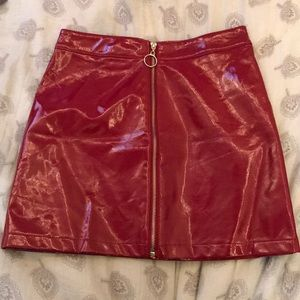 Forever 21 Red Faux leather skirt